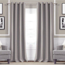 Metro Thermal Weave Soft Drape Eyelet Curtain Panel  GREY | Sold Out!