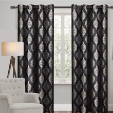 Casanova X Long Blockout Premium Eyelet Curtain Panel SMOKE