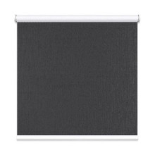 Charcoal Grey Houston Coated Blockout Textured Roller Blind