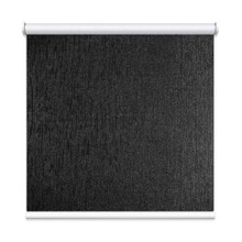 Black Houston Coated Blockout Textured Roller Blind