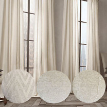 LINEN LOOK Extra Long  Blockout Eyelet Curtain Panel | Designer Pick