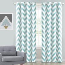 CHEVRON Premium Blockout Eyelet Curtain Panel - CHILL