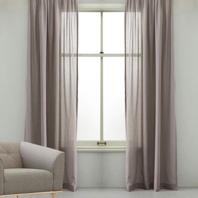 OPULENCE Natural Sheer Eyelet Curtain MUSHROOM