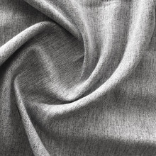 Portsea: LIGHT GREY Soft Drape  Linen Look Blockout Curtain Fabric | New