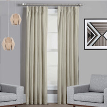 Texas Oyster Pinch Pleat Blackout Curtains Quickfit
