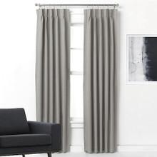 Pinch Pleat Curtains Blockout ARIZONA GREY  |  4 Sizes!