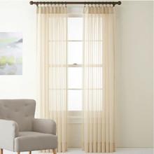 Shimmer Voile Pinch Pleat Curtains Beige