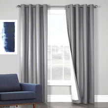 100% BLOCKOUT EYELET CURTAIN ECRU |