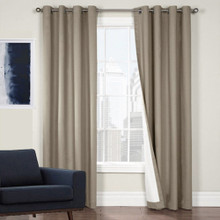 100% BLOCKOUT EYELET CURTAIN LATTE