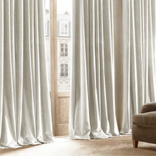 Velvet Custom Made 100% Blockout Curtain Ecru | New
