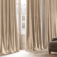 Velvet Custom Made 100% Blockout Curtain Nubuck | New