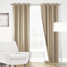 ARIZONA BLOCKOUT EYELET CURTAINS LATTE