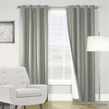ARIZONA BLOCKOUT EYELET CURTAINS DOVE GREY