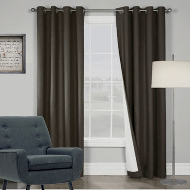ARIZONA BLOCKOUT EYELET CURTAINS BLACK