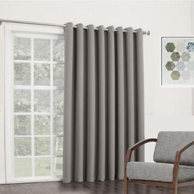 BOND Room Darkening Soft Drape Eyelet Curtain Panel GREY