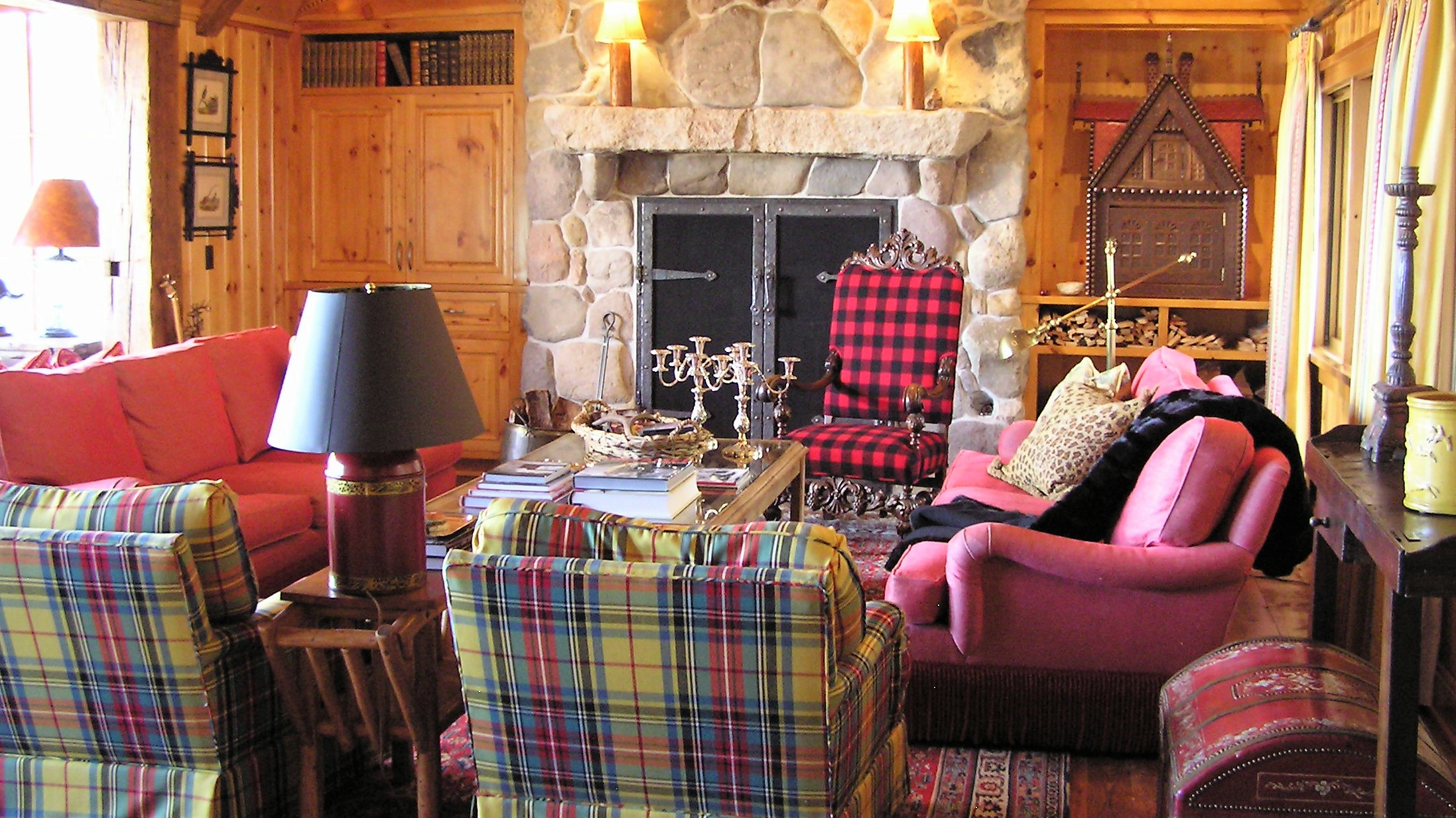 Beautiful rustic cabin furnishings selected by our in-house interior designer.