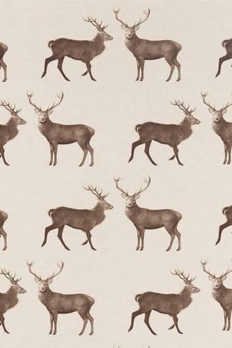 Evesham Deer in Linen/Chalk