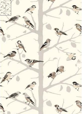 A-Twitter Songbirds Wallpaper in Blush