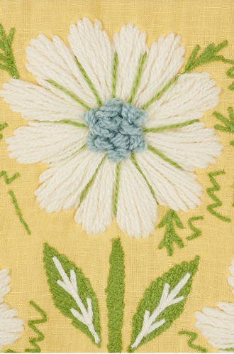 Marguerite Embroidery in Buttercup