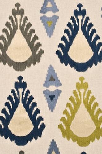 Exuberance Fabric in Indigo/Celery