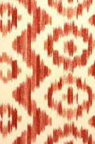 Ikat de Lin Fabric in Brick
