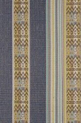 Totem Fabric in Indigo