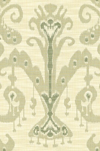 Ikat Crypton Fabric in Soft Greens