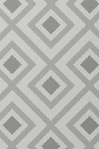 La Fiorentina Geometric Wallpaper in Dove Grey (David Hicks)