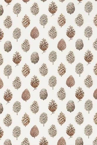 Pine Cones in Briarwood and Cream