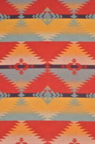 Red Rock Blanket Fabric in Sunblaze