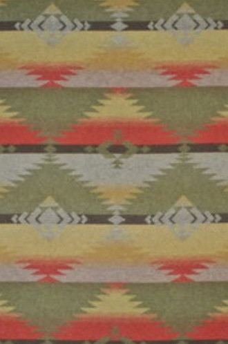 Red Rock Blanket Fabric in Wood Moss