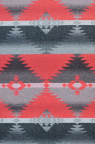 Red Rock Blanket Fabric in Cochineal Red