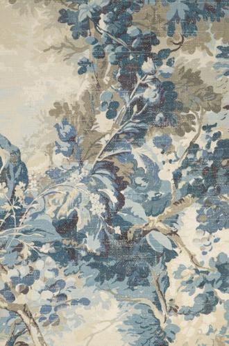 Copy of Rutland Wallpaper in Aqua and Blue