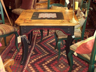 Ty Loyola Hand-Crafted & Hand-Painted Game Table