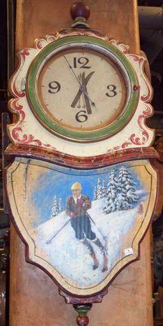 Ty Loyola Skier Clock