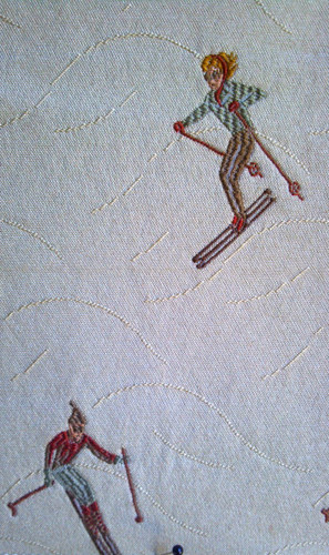Downhill Vintage Skiers Fabric (Big House)