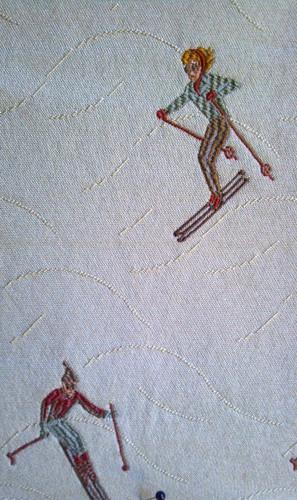 Downhill Vintage Skiers Fabric (Big House)