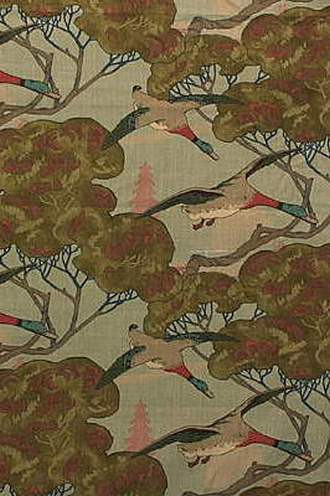 Flying Ducks Fabric in Sky (By Mulberry Home in England)
