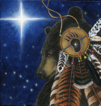 "Cathy McClelland's Painting ""Bear Medicine"""