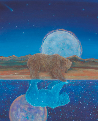 "Cathy McClelland's Painting ""Bear Reflection"""