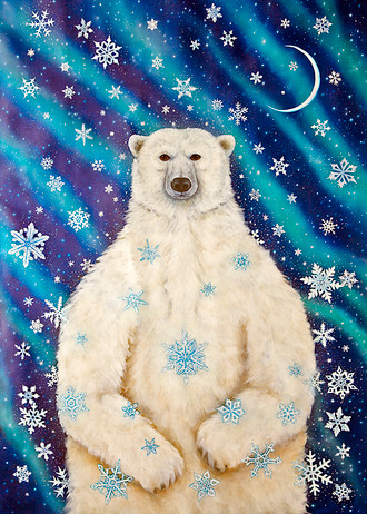 "Cathy McClelland's Original Painting ""Solstice Bear"""