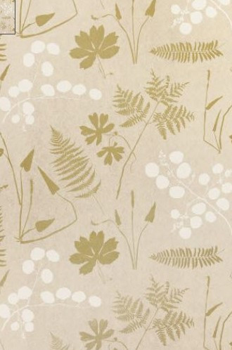 Modern Botanical Wallpaper in Parchment (Schumacher)