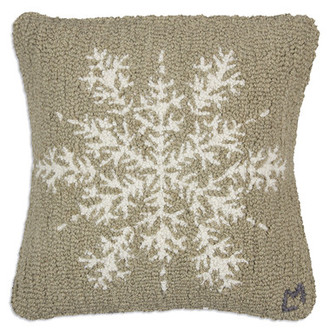 Khaki Snowflake Pillow