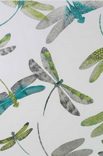 Dragonfly Dance Wallpaper in Lime (Osborne & Little)