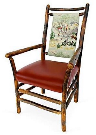 Tall Pines Upholstered Dining Chair With Arms (Painted finishes and fabric options available)