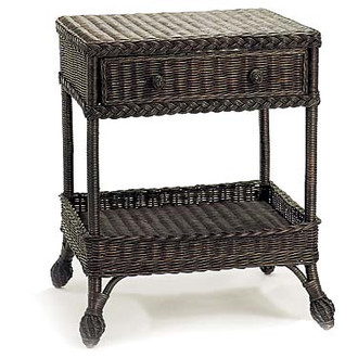 Tahoe Vista Two-Level Wicker End Table