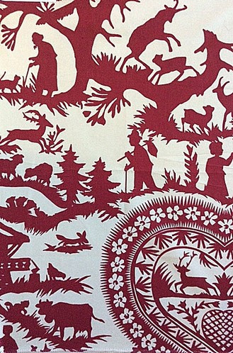 Rustic Fabric For Cabins Pierre Frey Swiss Chalets In Cerise