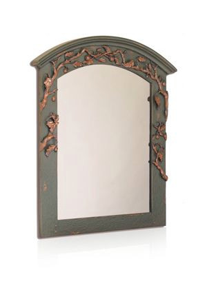 Pine Bough Carved & Curved Mirror