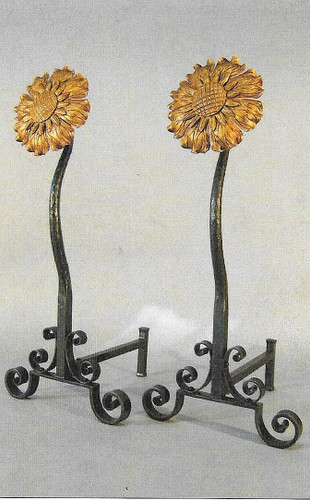 Summer Sunflower Andirons