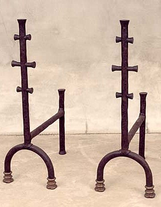 Chimney Beach Hand-Forged Andirons